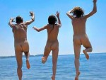 Happy Jumping Nudists